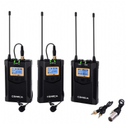 COMICA CVM-WM100 PLUS  WIRELESS DUAL MICROPHONE SYSTEM & ONE RECEIVER